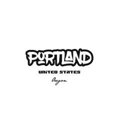 United states portland oregon city graffitti font vector