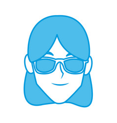 Young woman with sunglasses vector