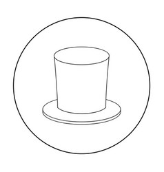 Zylinder icon in outline style isolated on white vector