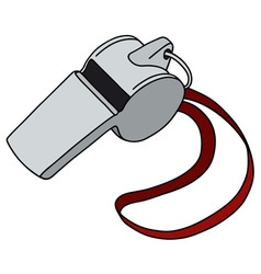 Whistle with a red cord vector