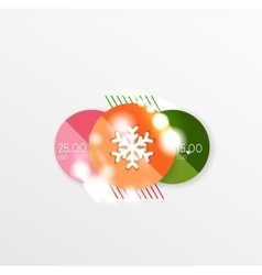 Christmas sale stickers with sample promo text vector image