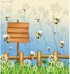 Honeybees Signboard vector image