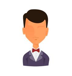 man portrait face icon web avatar flat style vector image