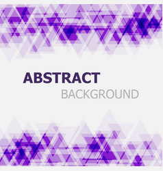 Abstract purple triangle overlapping background vector