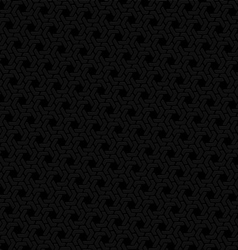 Black hexagon seamless retro background vector image
