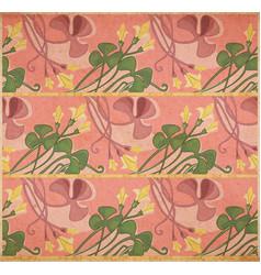 Floral art-nouveau background vector