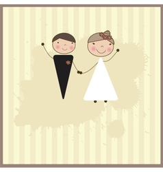 Beautiful wedding couple is enjoying wedding vector