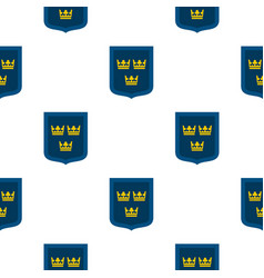 Coat of arms of sweden pattern flat vector