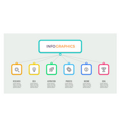 Business hierarchy infographic organization chart vector