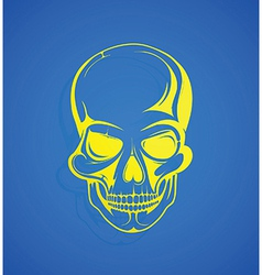 Stylised skull vector