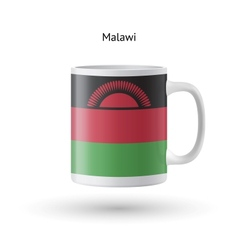 Malawi flag souvenir mug on white background vector