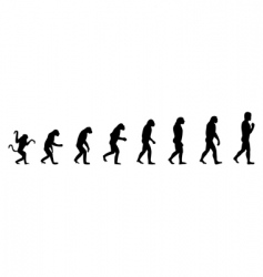 evolution of the person vector image