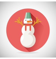 Snowman character icon new year christmas symbol vector
