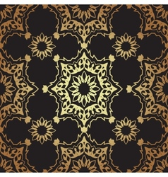 Decorative seamless pattern in ottoman motif vector