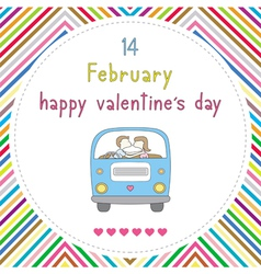 Happy valentine s day card16 vector