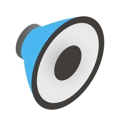 Sound speaker isometric 3d icon vector