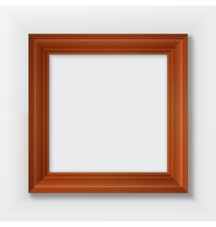 Classic wooden frame isolated on white background vector