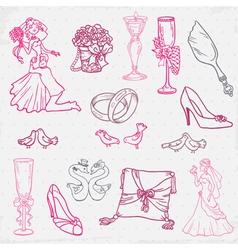 Beautiful Wedding Hand Drawn vector image