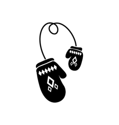 Winter gloves icon vector