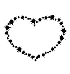 heart of the black spines vector image