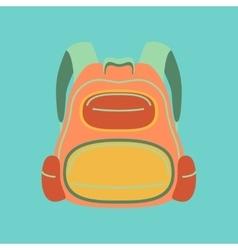 flat icon on stylish background fashionable bag vector image
