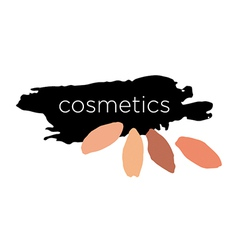Abstract logo for cosmetics and makeup vector image vector image