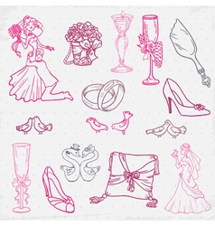 Beautiful Wedding Hand Drawn vector image