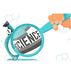 Colorful with scientific instruments vector