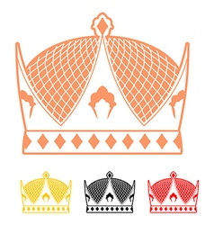 Crown flat style icon Headdress symbol of vector image