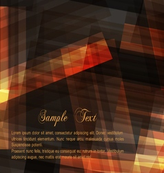 Dark brown geometric background for design vector image