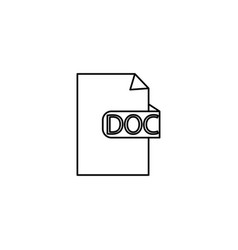 doc format icon vector image