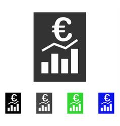 Euro sale report flat icon vector