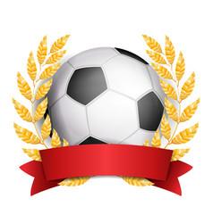 football award sport banner background vector image