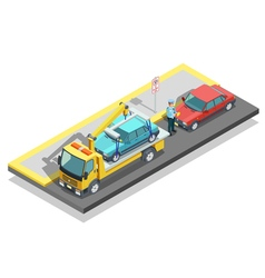 Isometric Parking Composition vector image vector image