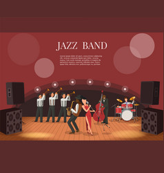 Jazz music band flat with vector