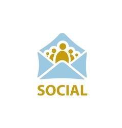 logo social vector image