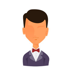 Man portrait face icon web avatar flat style vector