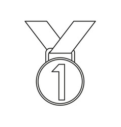 medal award winner sport thin line vector image