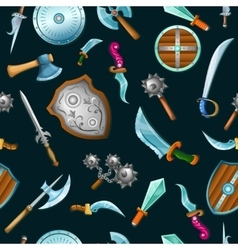 Medieval weapons pattern vector