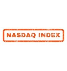 Nasdaq Index Rubber Stamp vector image vector image