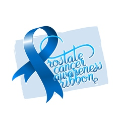 Prostate cancer awareness ribbon vector image vector image