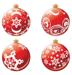 Red Xmas Ball Design4 vector image