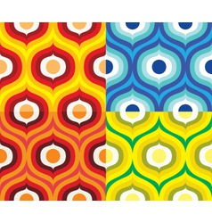 Scandinavian retro pattern vector image