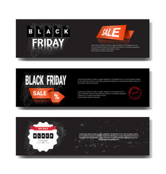 set of black friday sale template horizontal vector image