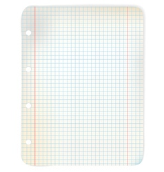 sheet of grid paper vector image
