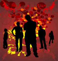 silhouettes people vector image vector image