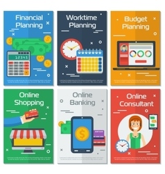 Six vertical banners FINANCIAL ACCOUNTANT vector image