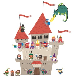 Small Kingdom on White vector image vector image