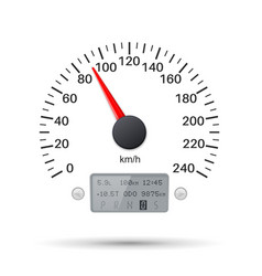 speedometer scale speed gauge vector image
