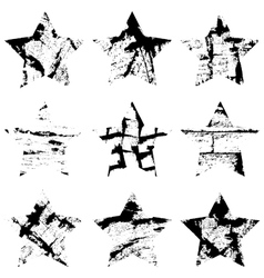 Star Single Set vector image vector image